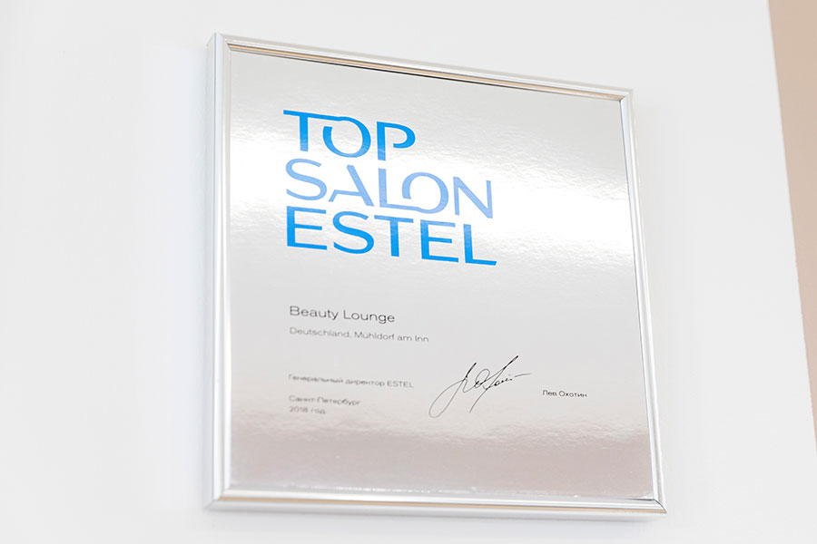 Beauty Lounge in Mühldorf ist TOP SALON ESTEL 2018!